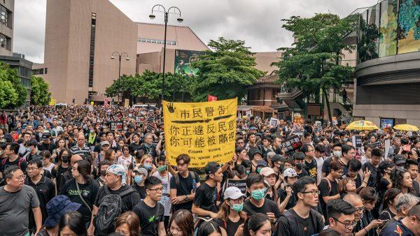 香港民間發起8月5日起「全港三罷」(罷工、罷課、罷市)等癱瘓社會運作的行動,爭取政府回應反對修訂《逃犯條例》的5大訴求。(Anthony Kwan/Getty Images)