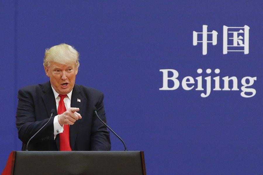 8月1日,美國總統特朗普宣佈從9月1日開始,對剩餘3,000億美元中國商品徵收10%關稅。(Photo by Thomas Peter-Pool/Getty Images)