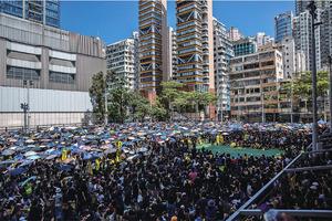 全香港「三罷」行動 陸空交通幾乎癱瘓