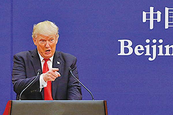 美國總統特朗普在Twitter譴責中共操縱匯率。(Getty Images)