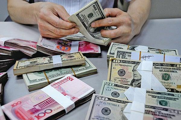人民幣兌美元匯率8月5日雙破7。(大紀元資料室)