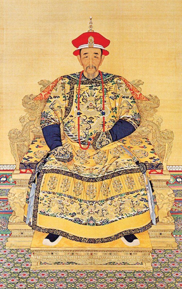 康熙大帝,宮廷畫家繪。(公共領域)
