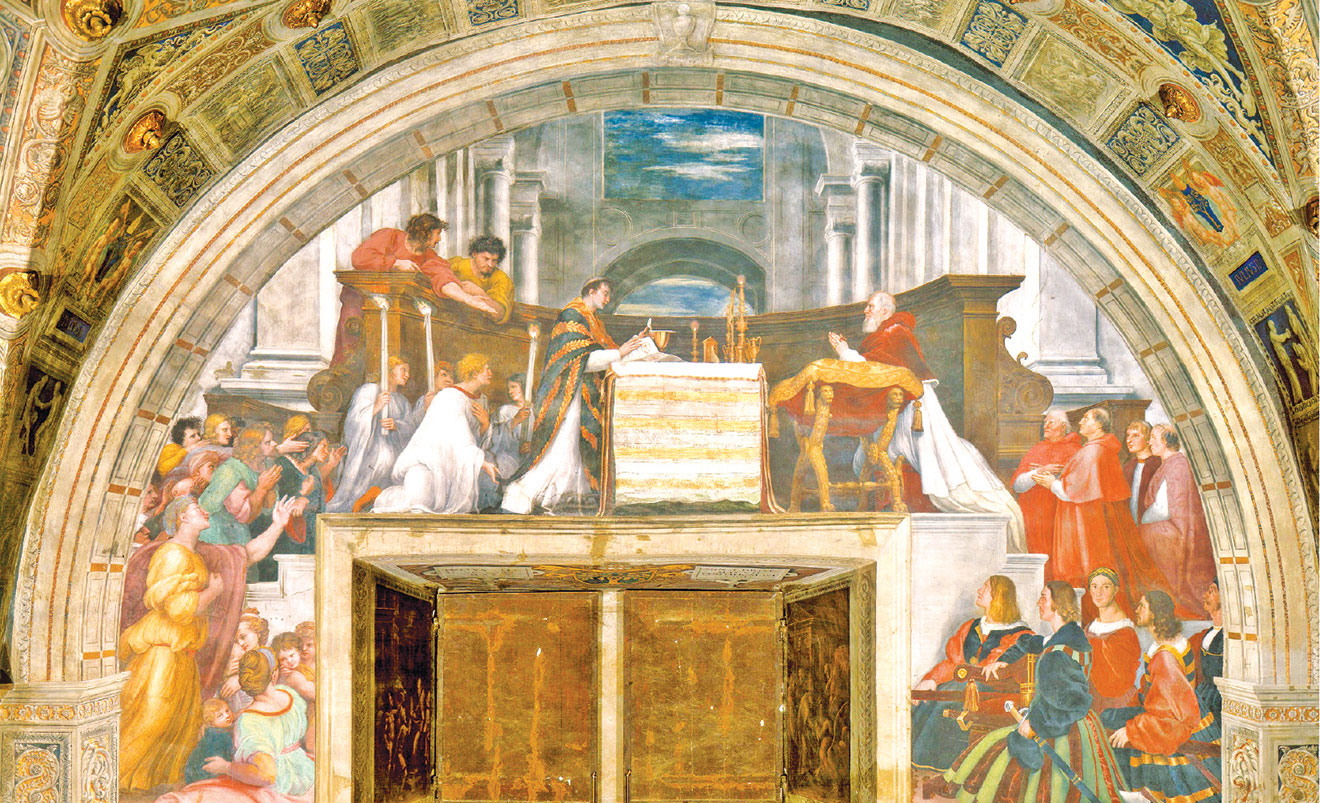 拉斐爾《博爾塞納的彌撒》The Mass at Bolsena。