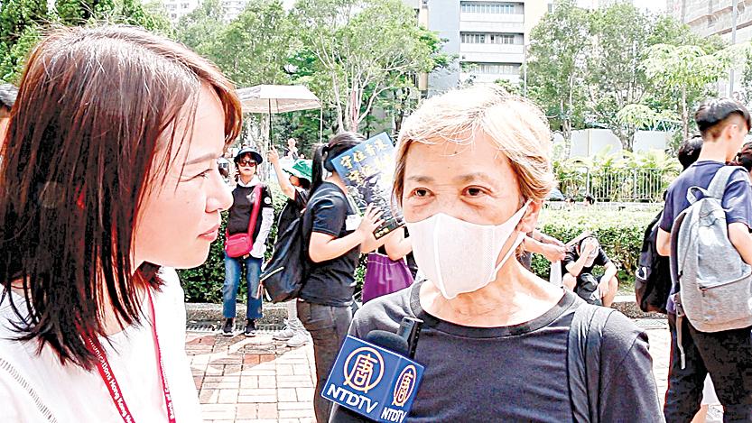 香港著名明星葉德嫻接受大紀元新唐人記者黃瑞秋直播訪問。(影片截圖)