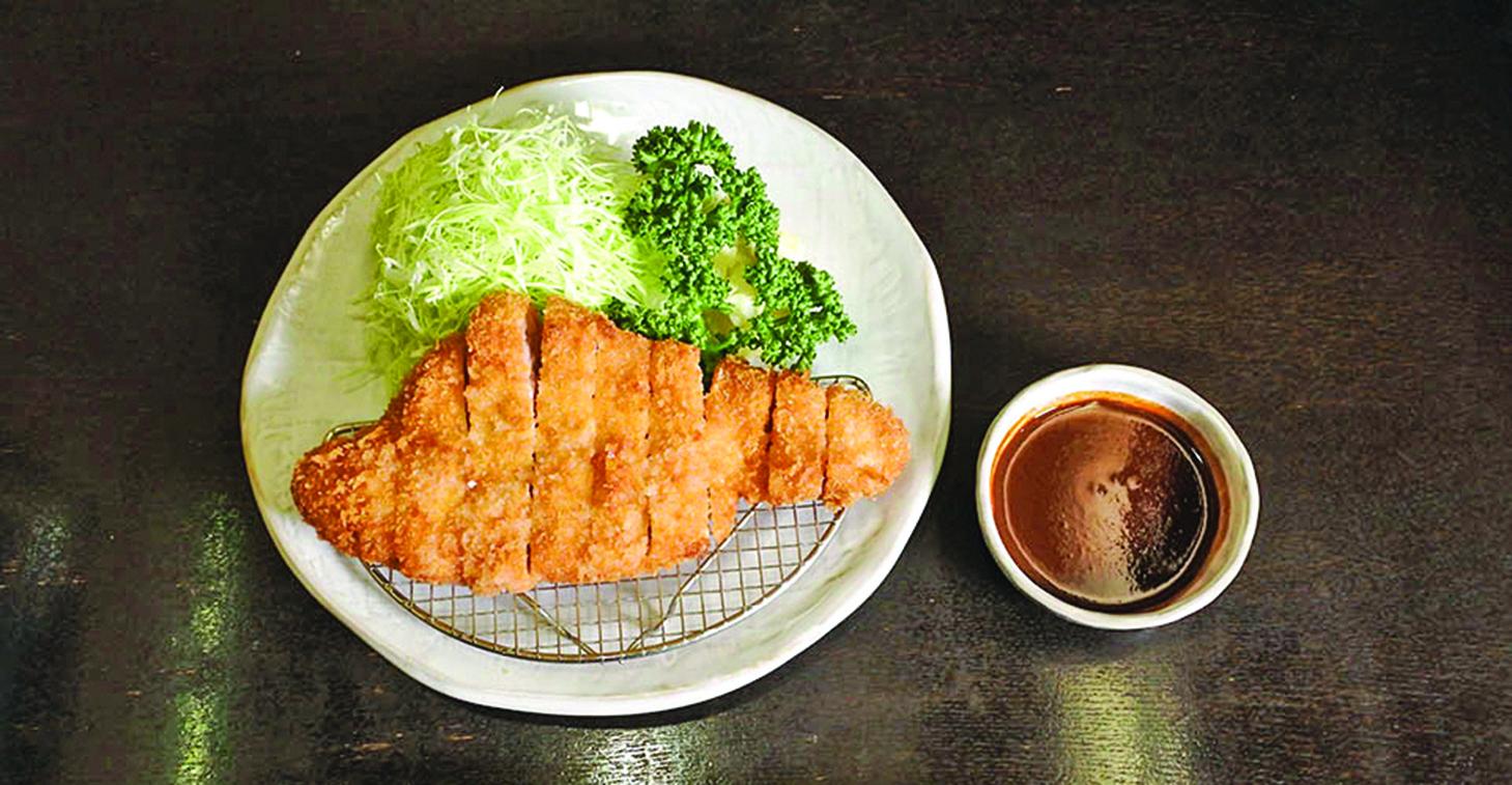 依個人喜好調整的沾醬式味噌豬排。