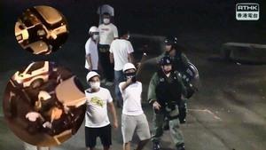 香港街頭誰在滋事?警察偷換黑白衣被拍到