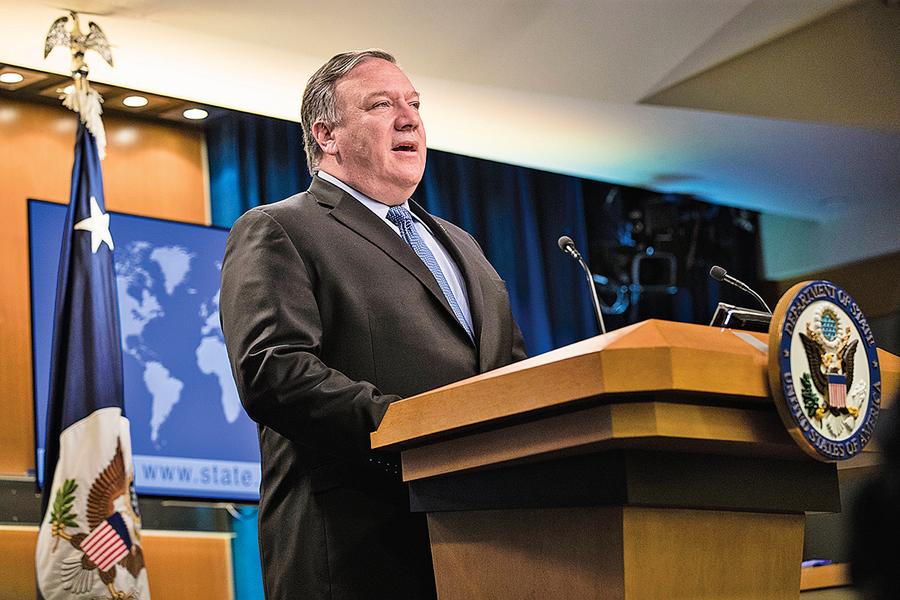 蓬佩奧:白宮施壓伊朗奏效