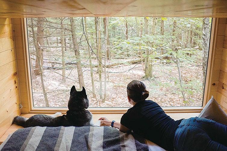 小屋的內部雖然狹窄,但有一個大窗可以沿途觀賞風景。(Getaway Facebook)