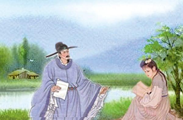 蘇東坡與蘇小妹對詩 。都說「書中自有顏如玉,書中自有黃金屋。」讀書的人,因知識的無限,更感到自己的渺小,才會對這個世界充滿敬畏,因敬畏而變得可愛。(示意圖,希望之聲合成)