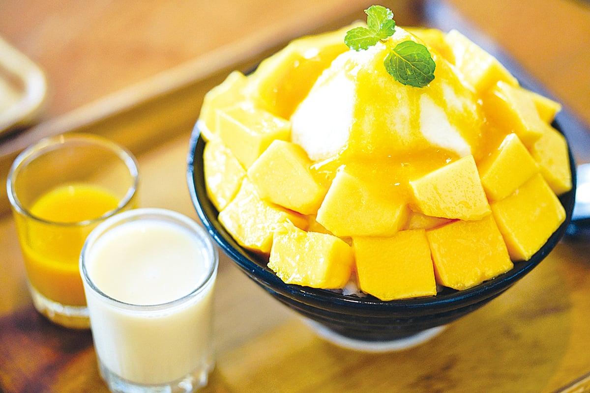 芒果很適合做成美味的冰品,消暑清涼。