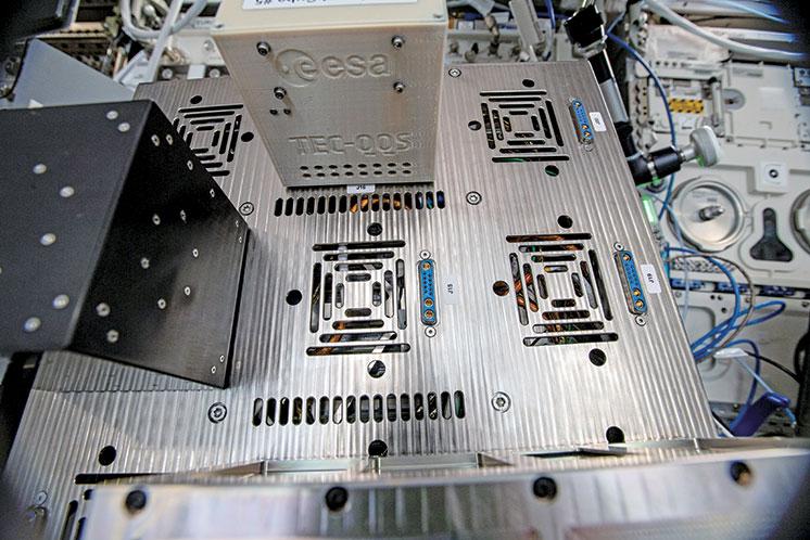 ESA測試全新的太空通信加密技術所使用的設備成本低廉且體型輕巧。(ESA)