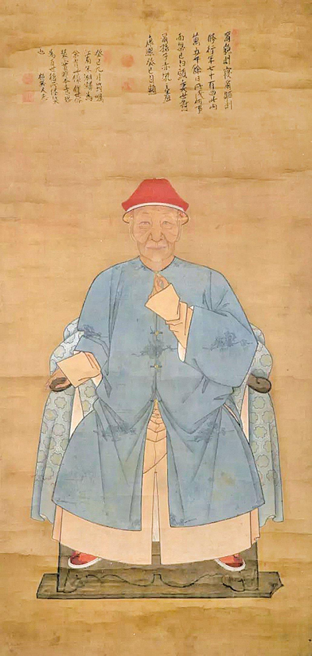 清初朱湘鱗作蒲松齡畫像(公有領域)