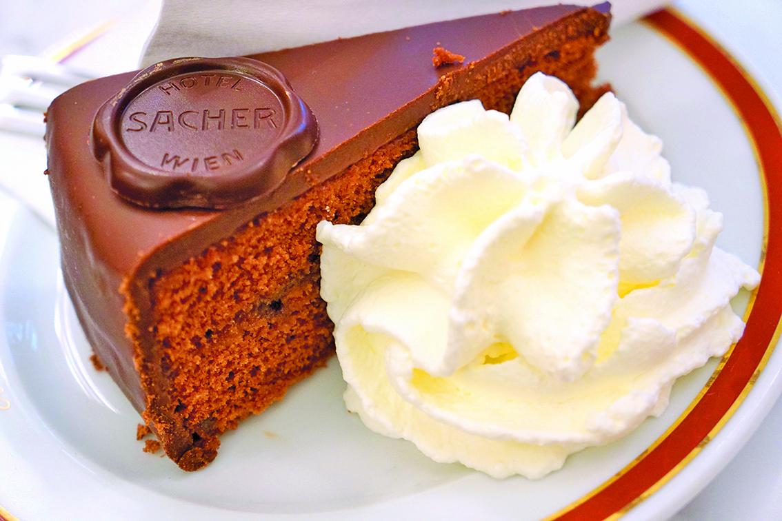 維也納的薩赫朱古力蛋糕。