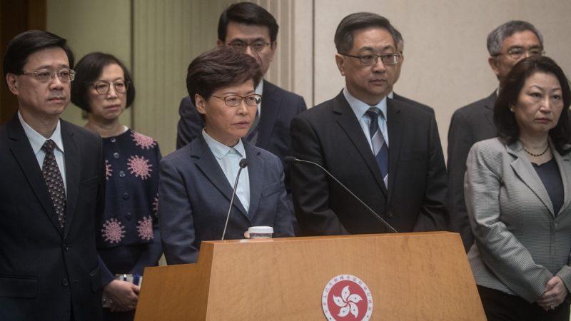 有專家分析說,香港局勢若失控,中共恐會犧牲林鄭月娥和部份高級警官的性命,來平息民憤及掩蓋自己的罪行。( Chris McGrath/Getty Images)