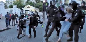 俄警重毆女示威者 影片引眾怒