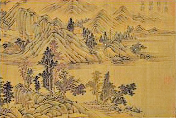 唐.王維‧《千岩萬壑卷》(國立故宮博物院藏)