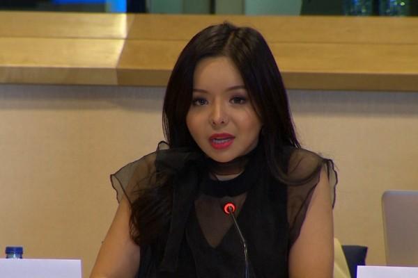 加拿大世界小時林耶凡與三位獨立調查員一共參加歐洲議會舉辦的關於中共強摘良心犯器官的聽證會。(凌宇/大紀元)