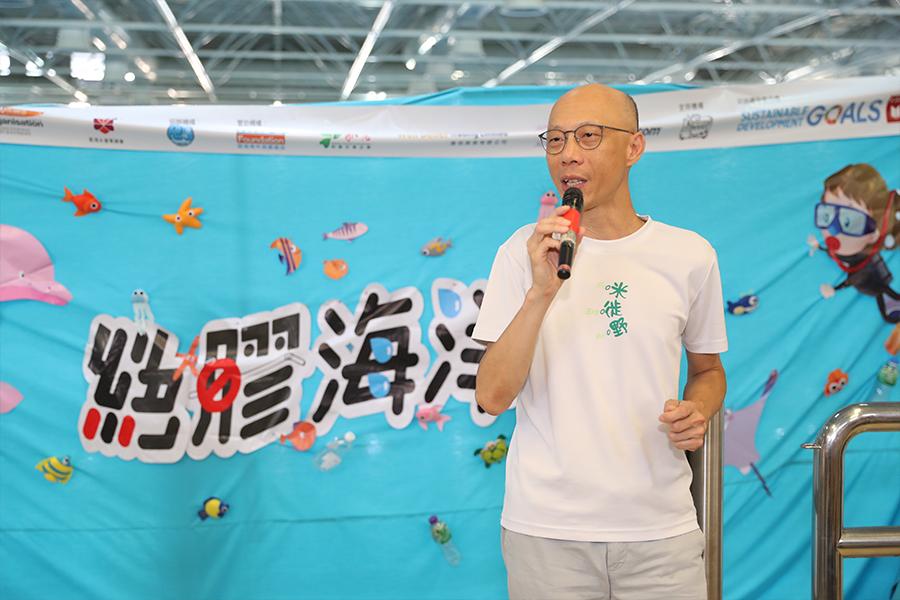 環境局局長黃錦星致辭。(城市女青年商會提供)