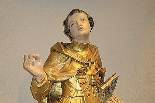 斯洛伐克國家博物館中的17世紀的阿奎那雕像。(Svencb/Wikimedia Commons)