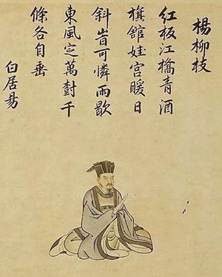 白居易(日本江戶時代畫家狩野常信作)(維基百科)