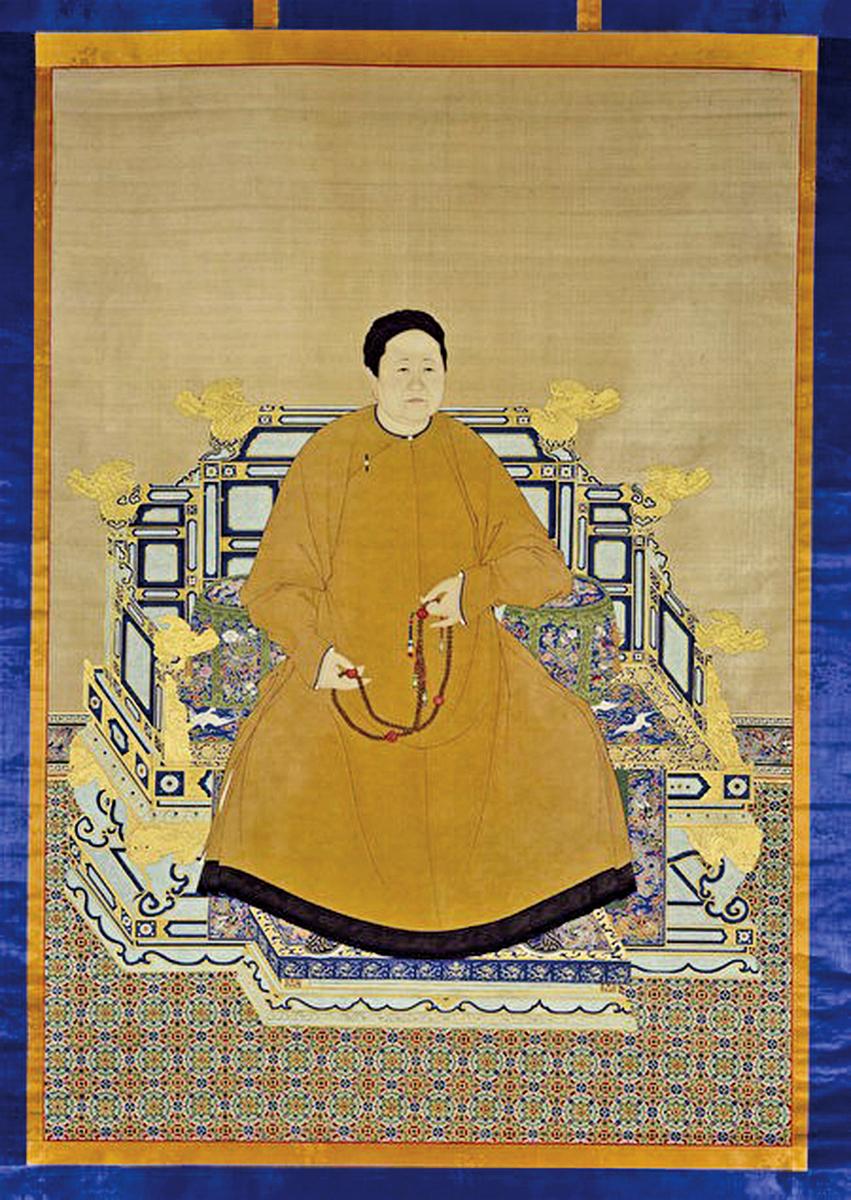 孝莊文皇后便服像軸絹本設色,北京故宮博物院藏(公有領域)