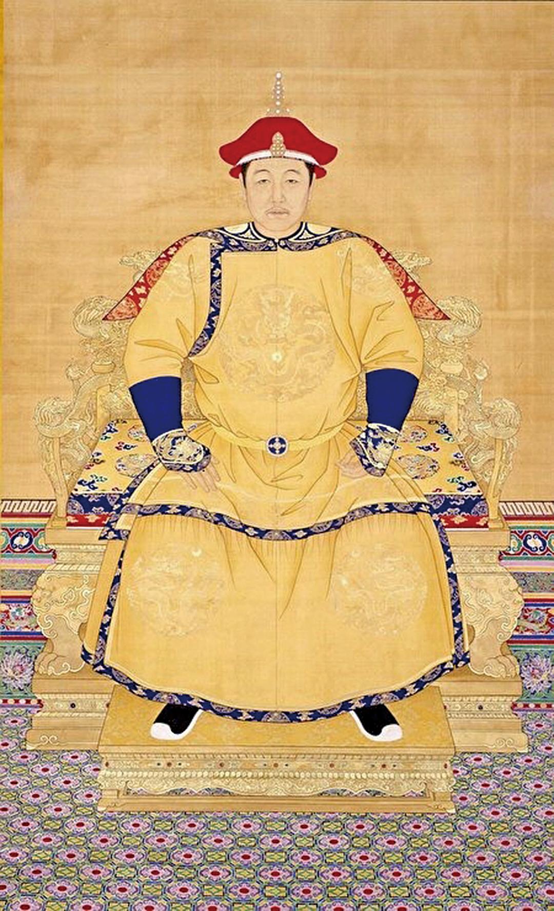 清佚名《清世祖順治皇帝朝服像》。(公有領域)