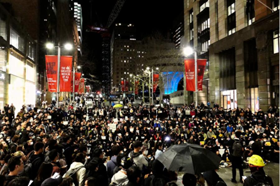 數百人悉尼集會抗議警黑暴力 守護香港