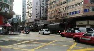 多輛中共軍車現香港街頭 引發各界猜測