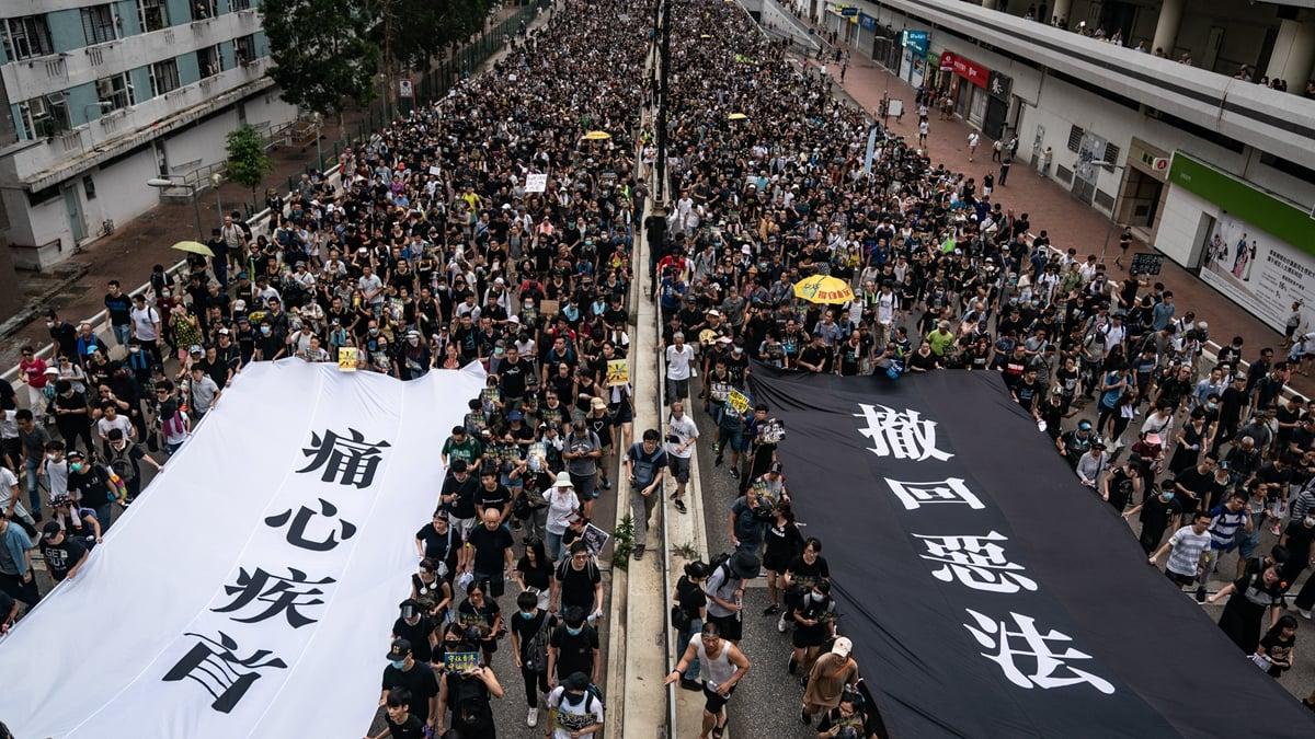 18日的遊行,民間人權陣線計劃希望能號召300萬名港人上街。全球將有10個國家、逾30個城市響應。(Anthony Kwan/Getty Images)