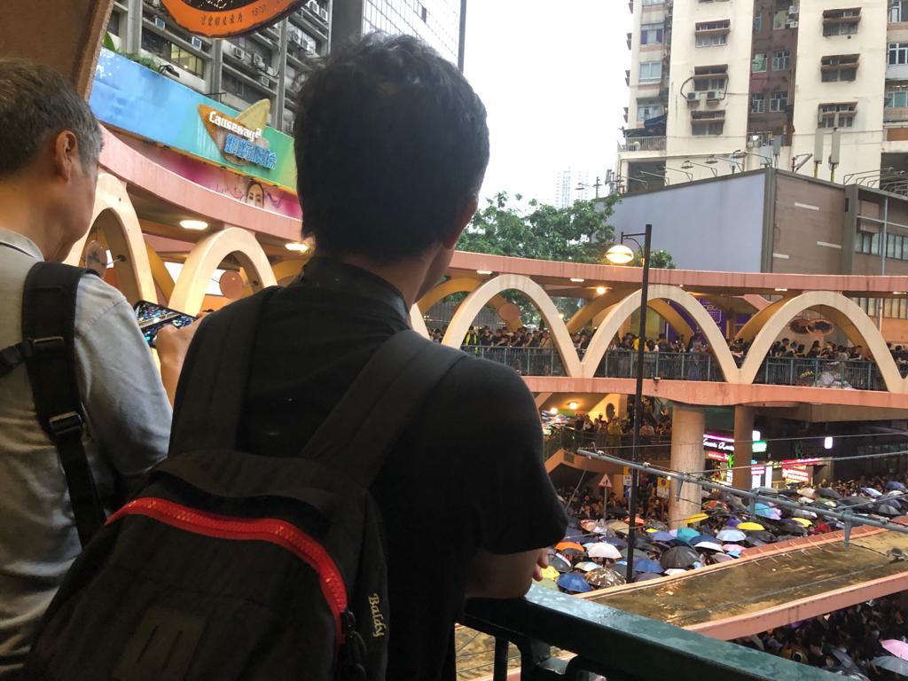歐先生參加了8.18遊行集會,他表示,警隊濫暴是制度問題,央視造假欺騙14億中國人可悲。(葉依帆/大紀元)