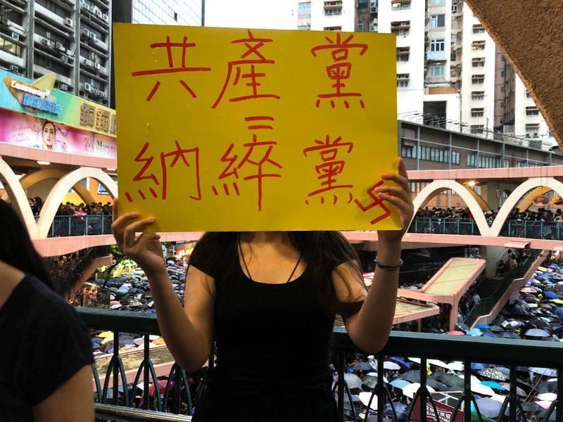「香港的運動打開了共產黨裂縫的大門」8.18維園和平抗爭市民表心態