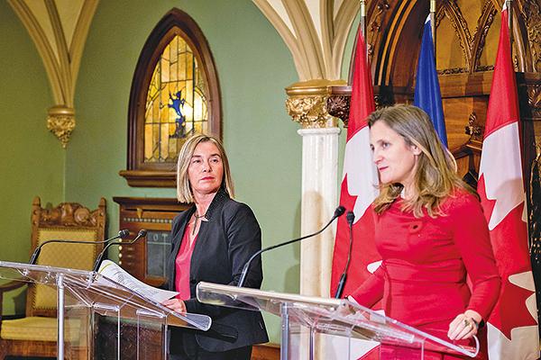 歐盟加拿大齊支持護港自由自治