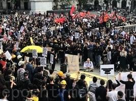 倫敦逾千人聲援香港