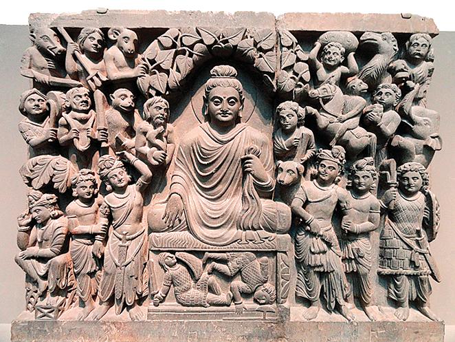 悉達多太子三十六歲在菩提樹下開悟成佛。(Wikimedia Commons)