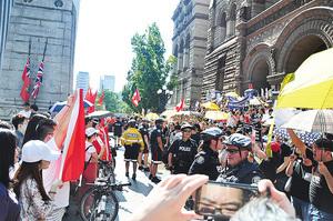 多倫多遊行撐反送中因大陸學生干擾而取消