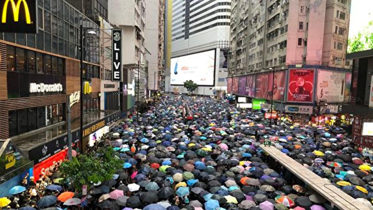 香港8.18維園集會遊行,場面壯觀。(大紀元)