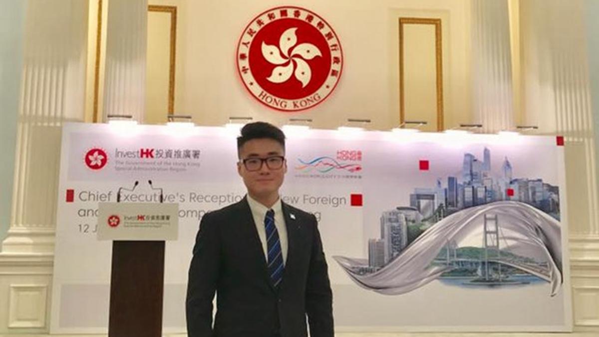 失聯港人Simon Cheng為英國駐香港總領事館(英領館)蘇格蘭國際發展局員工,今年28歲。(當事人facebook)