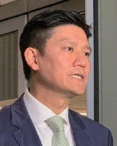 譚文豪昨日宣佈向國泰請辭,他希望航空界政治風暴能夠停止。(駱亞/大紀元)