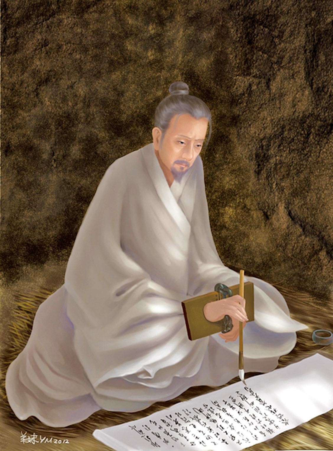 南宋將領文天祥,在元人的濕寒監牢裏,寫下歌以詠志的五言長詩《正氣歌》(羊妹/大紀元製圖)