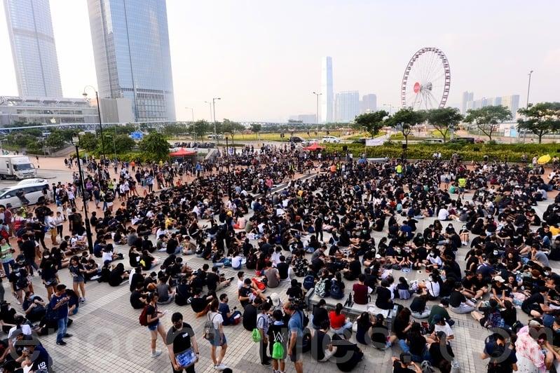 二千多中學生集會反修例