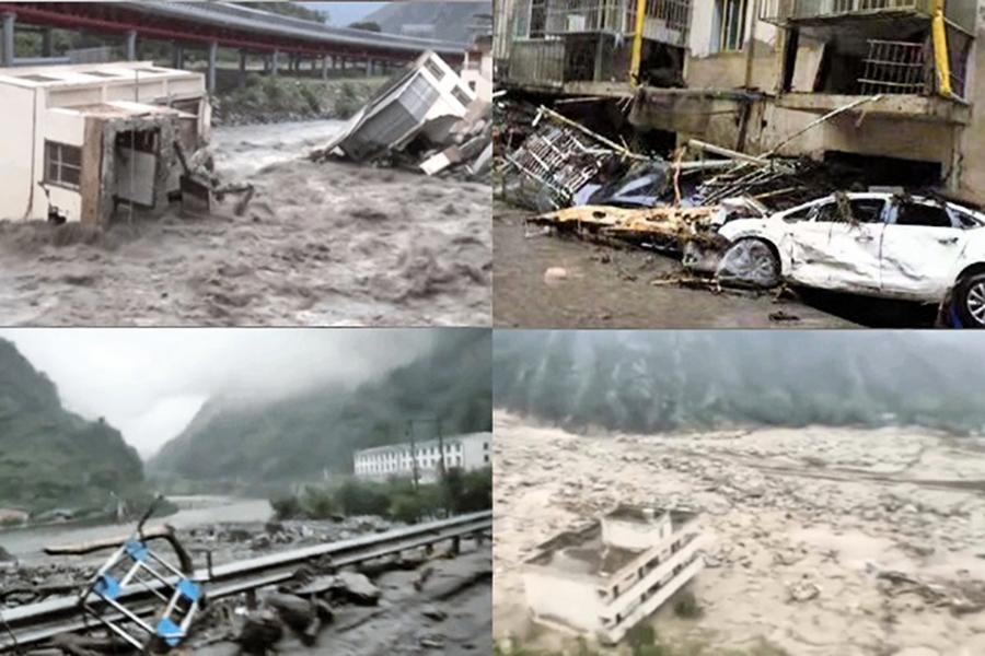 10萬餘人受災 汶川遭遇特大山洪泥石流