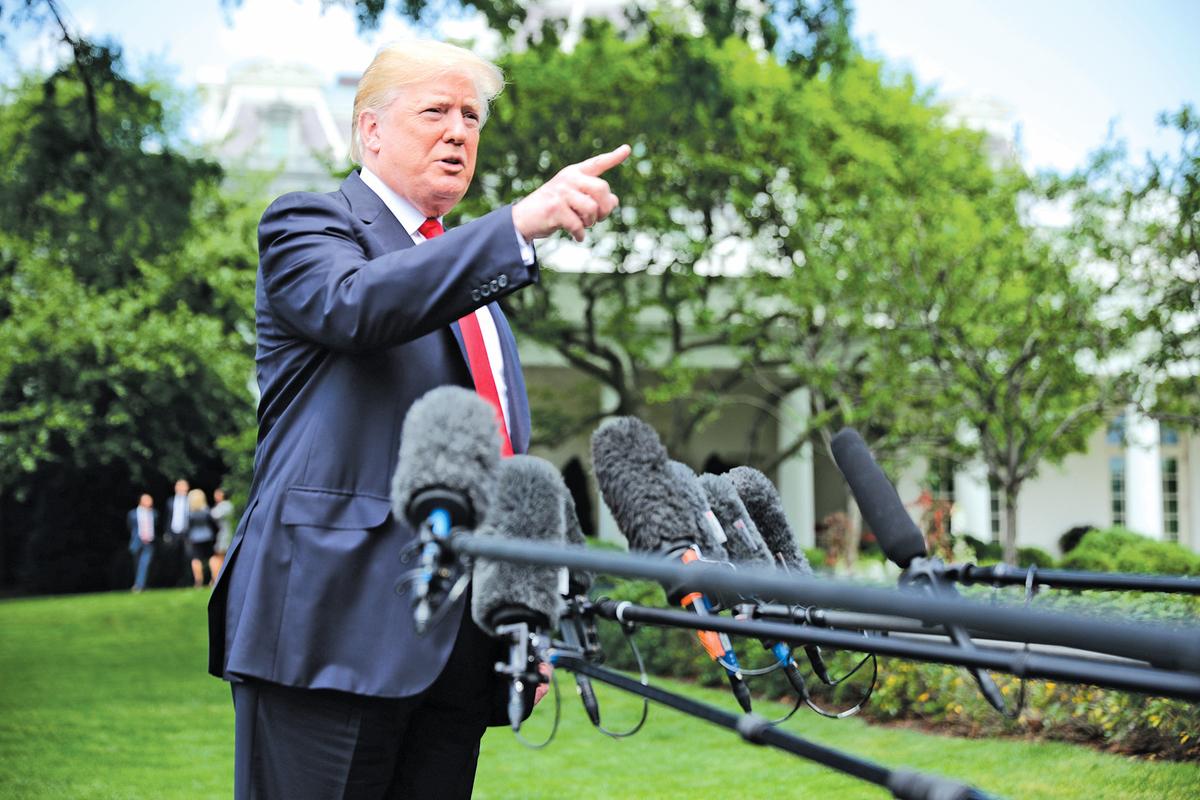 美國總統特朗普5月22日演講再次承諾繼續推動反墮胎法案,同時強調保護宗教自由。 (Chip Somodevilla/Getty Images)
