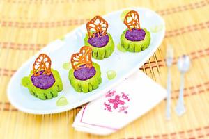 【梁廚美食】紫薯釀涼瓜圈