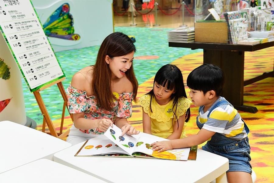 家長們可以與孩子們一起體驗親子共讀之樂。(主辦機構提供)