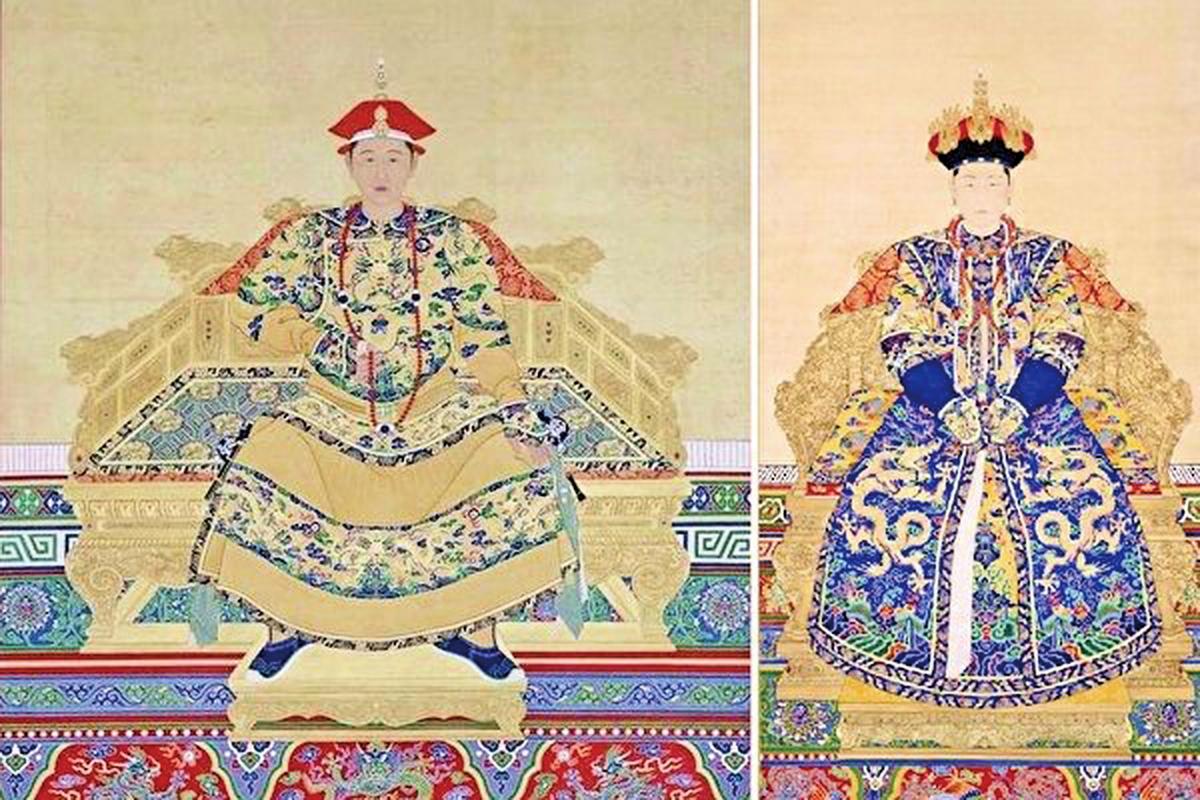 康熙皇帝與妻子孝誠仁皇后(公有領域/大紀元合成)