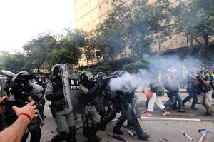 中美貿易戰陡然升級 香港局勢再度惡化