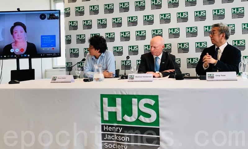 8月19日,香港「反送中」問題正處於水深火熱之際,英國保守派外交政策智庫 Henry Jackson Society (HJS) 在倫敦舉行了一場議題為「香港:抗爭與責任」的座談會,多名英國前外交官及英籍警官出席。(唐詩韻/大紀元)