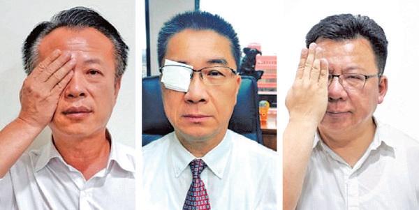 從左到右:台灣嘉義縣長翁章梁、內政部長徐國勇、立委李俊俋。(臉書圖片)