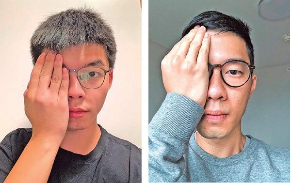 本港2014年「雨傘運動」學生領袖之一的黃之鋒(左)及香港眾志創黨主席羅冠聰。(推特圖片)
