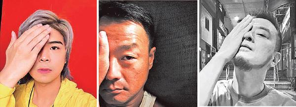 從左到右:本港藝人阮民安、王喜、黃耀明。(臉書、推特圖片)